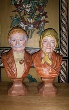 Holland Mold SALTY DOG And SEA HAG CERAMIC BUSTS Old Man and Woman VERY NICE