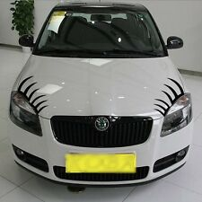 Headlight Car eyelashes sticker Decal for Chery Q3 BMW Mini VW eyelash 30cm