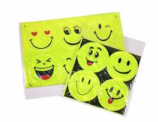 10 Big Emoji Face Plastic Sticker Paster Waterproof Reflective Light Home Decor