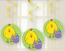 3 x Easter Chick Hanging Swirl Party Decorations CHEAP Easter party Decorations