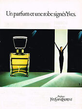 PUBLICITE ADVERTISING 104  1981  YVES SAINT LAURENT parfum femme Y
