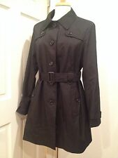 Tommy Hilfiger Trench Belted Rain Coat Jacket Water Resistant Black M NWT