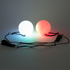 Set of 2 LED Poi Balls Pair Light Up Batteries Included Brand New US Seller!