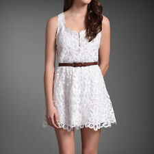 NWT $190 Abercrombie & Fitch Battenburg Lace Zoe dress Size Medium / Large White