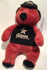 "Astros Teddy Bear by GOOD STUFF MLB Houston PLUSH 2002 baseball 9"" toy"