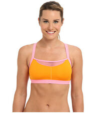 JOSIE AMP'D SPORTS TANK BRA BRALETTE PINK / ORANGE  #847170 36 B / C NEW! $48