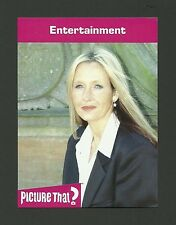 J.K. Rowling Author Harry Potter Celebrity Collector Card