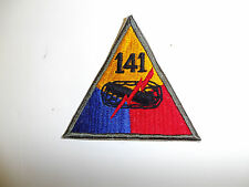 b0605-141 WWII US Army  Armored Tank Battalion Triangle patch 141st PC7
