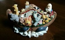 Noahs Ark Book Ends Heavy Resin Very Detailed