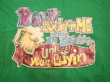 "Vintage Beer Drinking College Party ""You Buying?"" Iron On 70's T Shirt L"