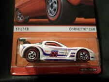 HOT WHEELS 2015 HW RED LINES #17/18 CORVETTE C6R HOTWHEELS WHITE REDLINE CHEVY