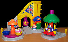 2003 Fisher-Price Surprise Sounds Fun Park w/Rocket Ship Ride & 3 Little People
