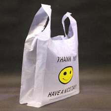50 pcs 20 x 30cm Carry Out Retail Supermarket Grocery White Plastic Shopping Bag