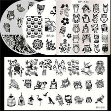 4Pcs/set Nail Art Manicure Stamping Image Plates Template BORN PRETTY Owl Design