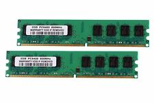 Kinston Chips 4GB 2X2GB 2RX8 DDR2 PC2-6400U 800MHz 240PIN DIMM intel RAM Desktop