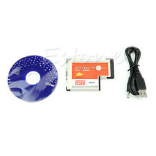 2 Port USB 3.0 HUB Express Card ExpressCard Hidden 54mm Adapter for Laptop PC