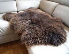 ÖKO 110cm Schaffell braun natur, Lammfell, sheep skin, Schafsfell NEU