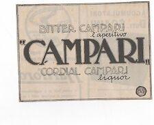 Pubblicità vintage CORDIAL CAMPARI BITTER advertising reklame werbung publicitè
