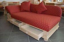 Landhaus Sofa Kanapee Liege Wallgau 197cm Inkl.2 Kissen Qualität aus Deutschland