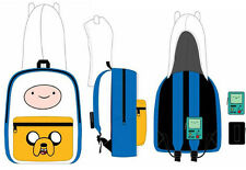 Adventure Time Finn Jake Suit Up with BMO Case Hood School Backpack Bag Costume
