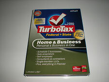 Turbotax 2008 Home & Business with state. New in box.