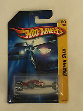 HAMMER SLED - 2006 Red Hot Wheels Die Cast Motorcycle  - Mint on Card