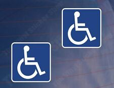 2x DISABILITY/MOBILITY BLUE BADGES Car/Van/Window/Bumper Printed Vinyl Stickers