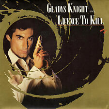 BOF LICENSE TO KILL GLADYS KNIGHT FRENCH 45 SINGLE OST