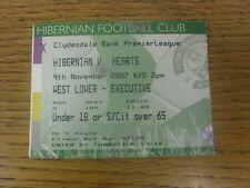 04/11/2007 BIGLIETTO: Hibernian V Heart of Midlothian. grazie per la visualizzazione e la nostra