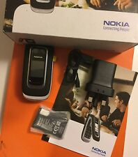 New Condition Nokia 6131 - Black (Unlocked) Mobile Phone Flip Fold