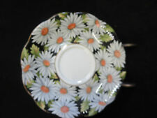 Royal Albert Sylvia Saucer White Daisy on Black