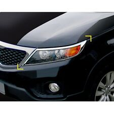 K-956 Car Chrome Head Lamp Light Cover Molding for Kia Sorento R 2010-2014
