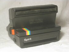 vintage Polaroid 600 Land Camera Spirit black rainbow stripe instant photography