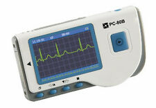 PC-80B HANDHELD ECG/EKG monitor COLOR SCREEN W/ BLUETOOTH REUSABLE SUCTION CUP
