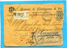 1919 FLO.c.45 ISOLATO ann.MARTIGNANA DI PO, 15.01.19 - UNDICI BOLLI !! (879007)