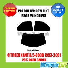 CITROEN XANTIA 5-DOOR 1993-2001 20% DARK REAR PRE CUT WINDOW TINT
