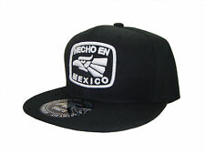 Hecho En Mexico Made in MX Snapback Snap Back Baseball Cap Caps Hat Black