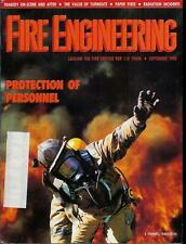 FIRE ENGINEERING MAGAZINE SEPTEMBER 1990 ISSUE VALUE OF TURNOUTS/RADIATION