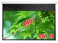 "Antra® 100"" 16:9 Electric Motorized Projector Projection Screen Remote Matt Grey"