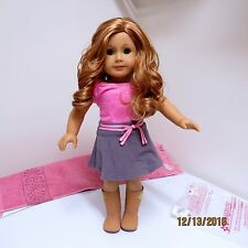 American Girl MAG JLY33 Red Curly Hair Blue Eyes New Retired Meet Outfit
