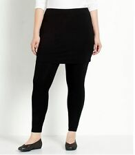 Eileen Fisher Black Viscose Jersey Skirted Ankle Leggings Plus Size 3X