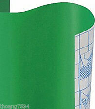 KITTRICH Solid Green Vinyl Contact Paper Sheet Shelf Drawer Liner Peel & Stick