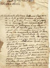 Lettera di Congratulazioni di Paolino Laurenzi Valdottavo Borgo a Mozzano 1772