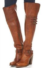 New in Box - $548.00 FRYE Jenny Belted Over-The-Knee Cognac Leather Boots Size 7