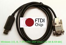 FTDI USB PC to PC / Terminal Emulation / console cable Hyperterminal NFH-DB-9M