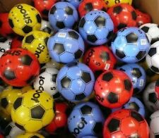 """12 PLASTIC FOOTBALLS 8.5"""" FLAT PACKED UN-INFLATED"""