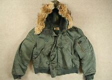 VTG 1971 ALPHA INDUSTRIES USAF N-2B FLYERS PARKA JACKET COYOTE FUR HOOD MEDIUM