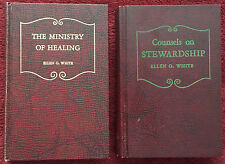 Ellen G White Duo: Ministry of Healing ~ Counsels on Stewardship EGW SDA Books