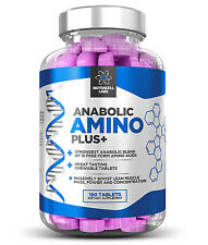 ANABOLIC AMINO PLUS+ STRONGEST LEGAL ESSENTIAL AMINO ACID + BCAA - 180 TABLETS