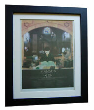 MANSUN+Six+TOUR DATES+POSTER+AD+RARE ORIGINAL 1998+FRAMED+EXPRESS GLOBAL SHIP